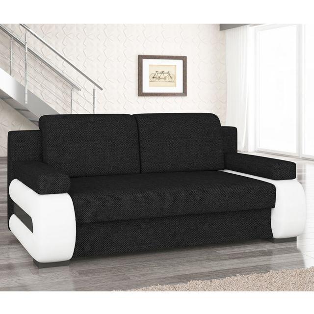 KASALINEA Canapé convertible en tissu avec coffre AMANDA, 3 coloris au choix