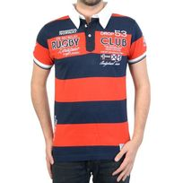 RG512 - Polo Geographical Norway Kimporte Ss Men 100 Rouge/Navy