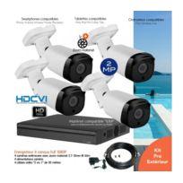 Dahua - Kit vidéo surveillance extérieur avec 4 caméras zoom motorisé Ir 50m Capacité du disque dur - Disque dur de 2 To + 98