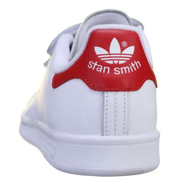 Adidas Basket Stan Smith Cf S80041 BlancRouge pas cher