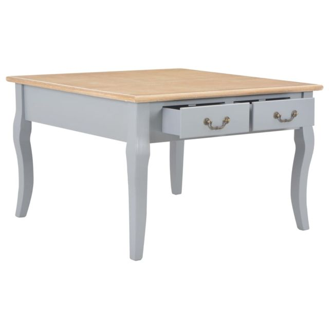 Icaverne - Tables basses reference Table basse Gris 80 x 80 x 50 cm Bois
