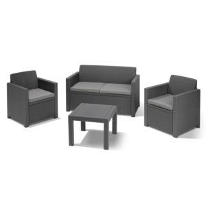 RUE DU COMMERCE - Salon de jardin bas ALABAMA - 2 fauteuils + 1 ...