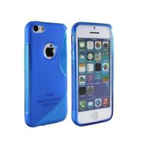 Lapinette - Coque Gel Vague S Pour Apple Iphone 5 - 5s - Bleu