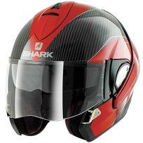 Shark - casque intégral modulable en jet Evoline Pro Carbon Drw moto scooter carbone-rouge brillant Xl