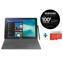 Samsung - Galaxy Book - 10,6'' - 64 Go - Noir + Carte micro SD 256 Go EVO PLUS classe 10 100Mo/s avec adaptateur SD