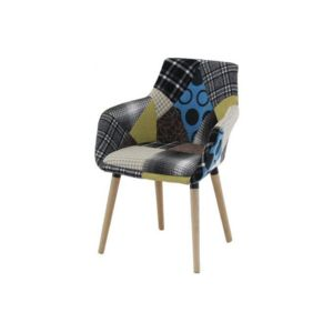 declikdeco fauteuil scandinave patchwork rikel multicolore pas cher achat vente fauteuils. Black Bedroom Furniture Sets. Home Design Ideas