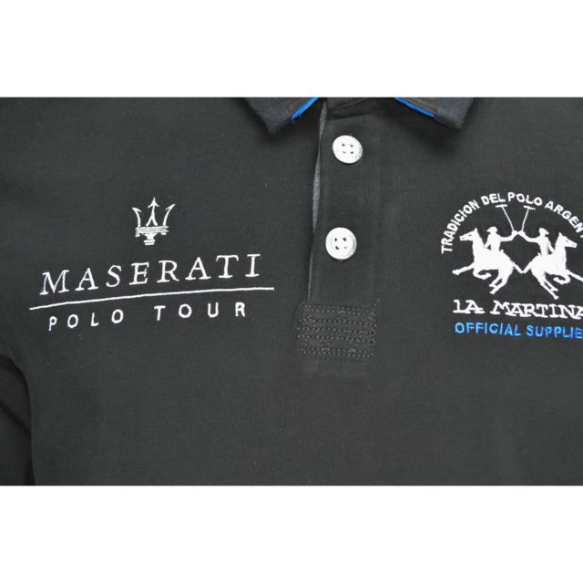 Lamartina - Polo La Martina Maserati noir pour homme