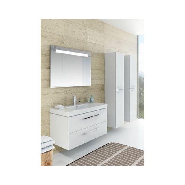 Riho Ensemble meuble & lavabo Altare Set 33 en bois laqué brillant 130x47 x H56,5 cm