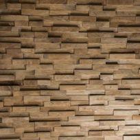 Wanda Collection - Revêtement Parement en teck recyclé naturel barette 20cm x50cm