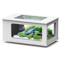 Aquatlantis - Aquarium table Led 100X63 cm blanc