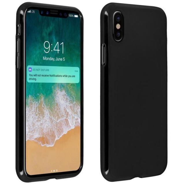 coque iphone x protection silicone gel mat noir