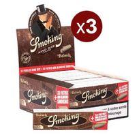 Smoking - 3 Bte De 24 Carnets De 33 Feuilles+CARTONS Brown King Size