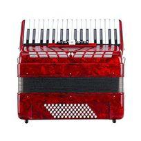b3b3ae51f10cd Cantabile Secondo Iii Accordéon piano 72 basses 3 voix 34 touches avec  sangle et housse Noir rouge