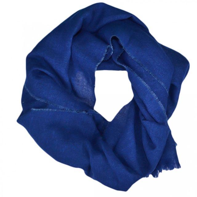 d695e27fd50b Ralph Lauren - Echarpe luxueuse bleu en lin et laine pour homme - pas cher  Achat   Vente Etoles, châles - RueDuCommerce