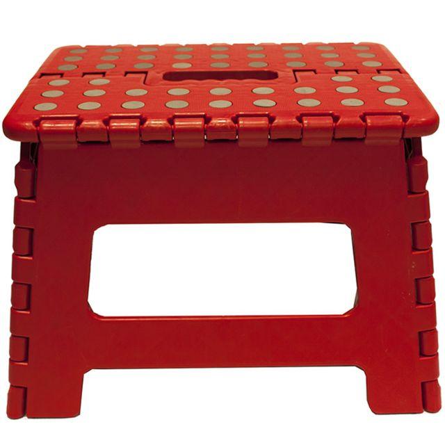 touslescadeaux marche pied pliant pliable tabouret rouge pas cher achat vente. Black Bedroom Furniture Sets. Home Design Ideas