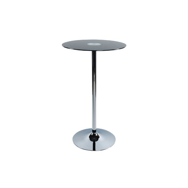 Table bar design 65x65x110cm Slidi - noir