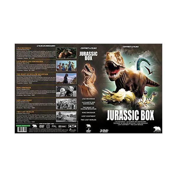 Artus Films Jurassic Box : L'île inconnue + La planète des dinosaures + The Beast of Hollow Mountain + King Dinosaur + Lost Continen