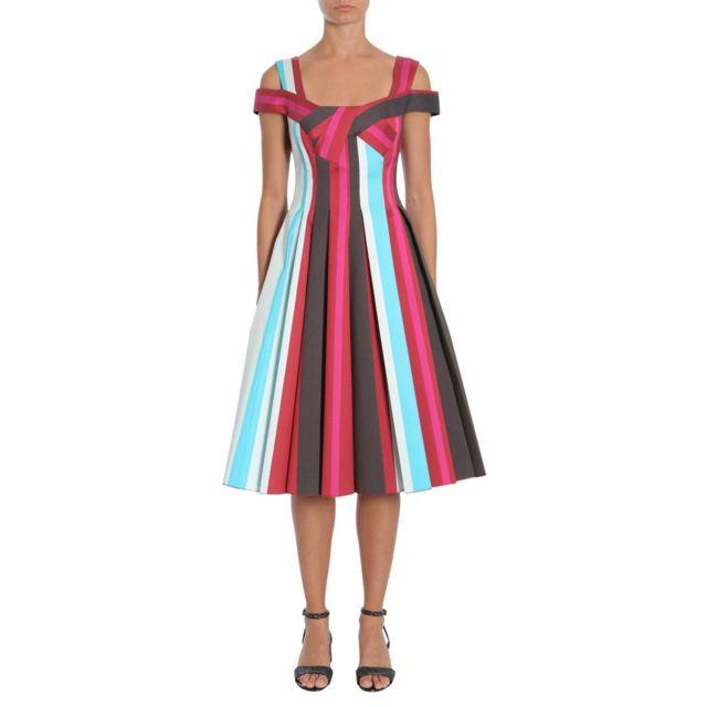 Paule Ka Femme 135R5154562 Multicolore Coton Robe