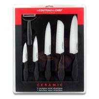 Le Couteau Du Chef - Coffret de 6 Couteaux Lame Céramique 30 x 37 x 3.4 cm