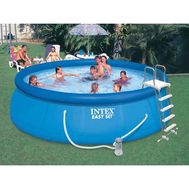 Intex piscine autoporte easy set x m with piscine foir fouille for Aspirateur piscine hors sol la foir fouille