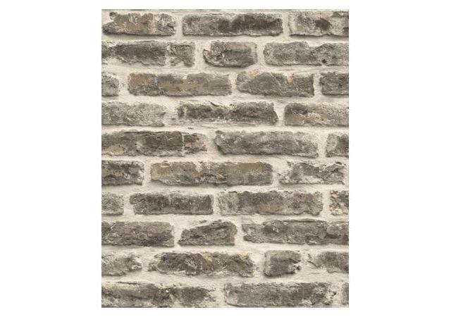 Declikdeco   Papier Peint Style Trompe Lu0027?il Mur De Briques Gris Foncé
