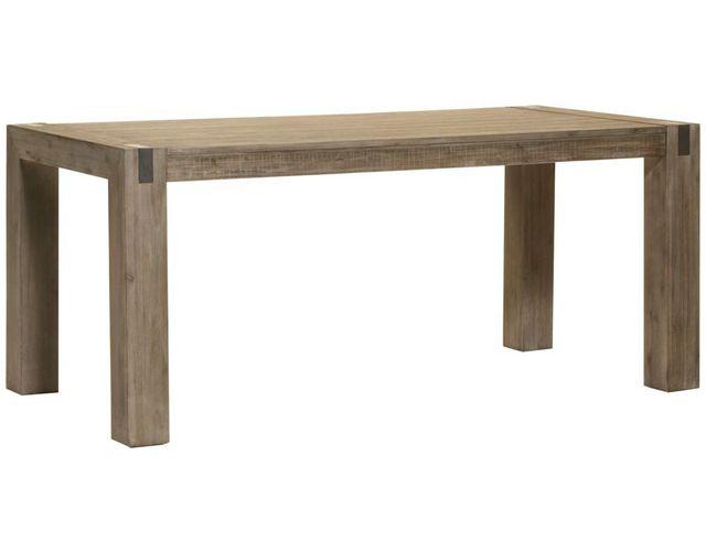 Comforium Table de salle à manger extensible 180-230 cm en acacia massif coloris réglisse
