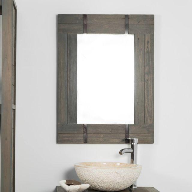 Wanda Collection Miroir de salle de bain Loft 60x80 gris