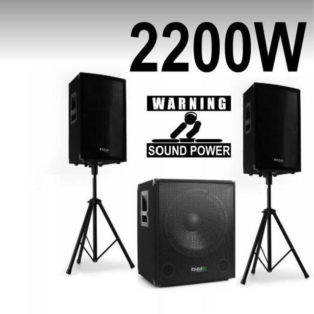 Ibiza Sound Pack cube 1512 - disco 15 - pieds - câbles