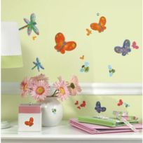 Jomoval - Stickers Papillons Et Libellules Roommates Repositionnables 51 stickers