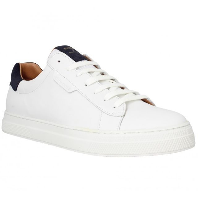 4f757f0267c1 Schmoove - Spark Clay cuir Homme-40-White - pas cher Achat   Vente Baskets  homme - RueDuCommerce