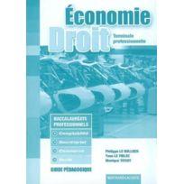 Bertrand Lacoste - économie-droit ; terminale professionnelle comptabilité, secrétariat, commerce, vente ; guide pédagogique