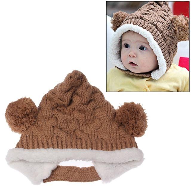 420aef980c5b Wewoo - Bonnet Chapeau pour bébé brun de laine tricoté   de Noël ...