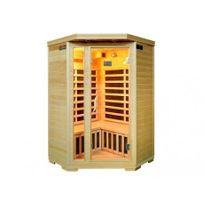 Vogue Sauna - Sauna Infrarouge 3/4 places d'angle Gamme prestige Arvika Ii - 120 x 56 x 120 x H190 cm