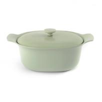 Berghoff - Braisière ovale avec couvercle fonte de fer vert 28x22 cm - Ron