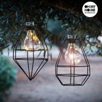 Une lanterne Solaire avec lumière Led fixe - Decoration jardin lampe  exterieur deco