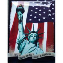 Universel - Plaque statue de la liberté bombée et avec relief tole deco