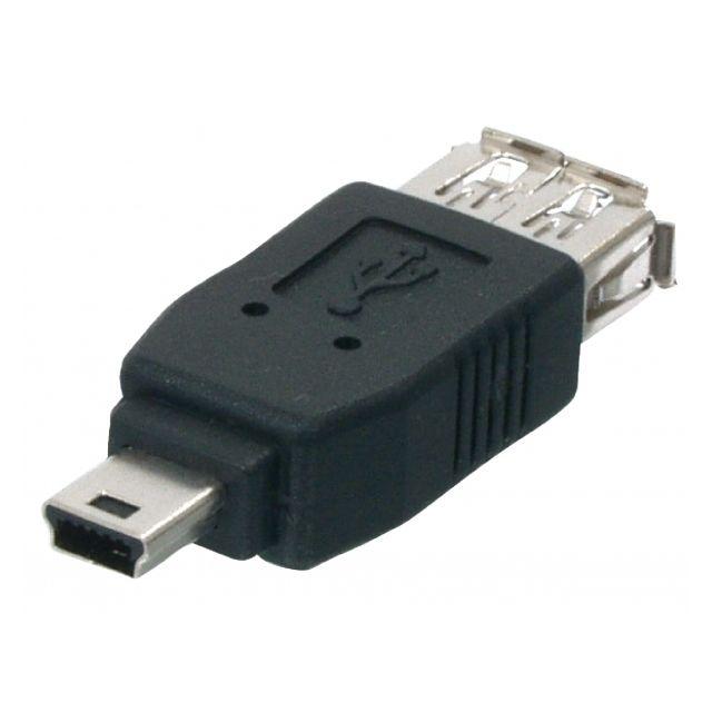 e8da26bded838 APPEL - Adaptateur USB Femelle Vers Mini USB - 5 Pins Mâle Male Neuf ...