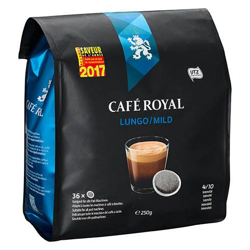 caf royal dosettes souples de caf lungo mild sachet de 36 pas cher achat vente dosette. Black Bedroom Furniture Sets. Home Design Ideas