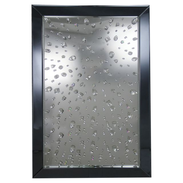 Comforium Miroir ultra chic design 80x120cm coloris argenté