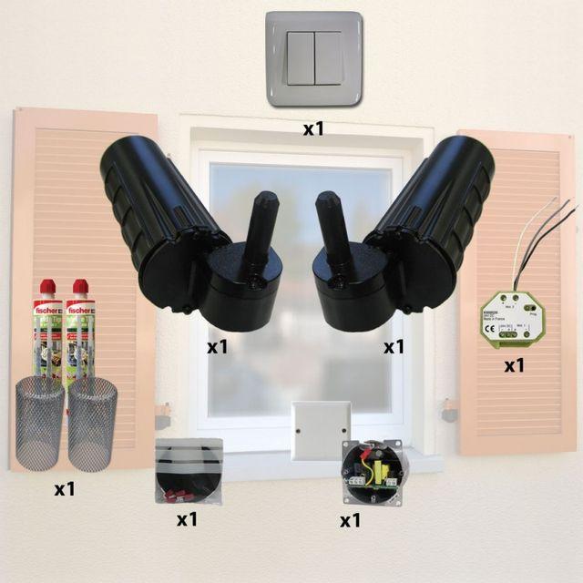 moteur de volet battant cheap volet battant aluminium de vrs fermetures with moteur de volet. Black Bedroom Furniture Sets. Home Design Ideas