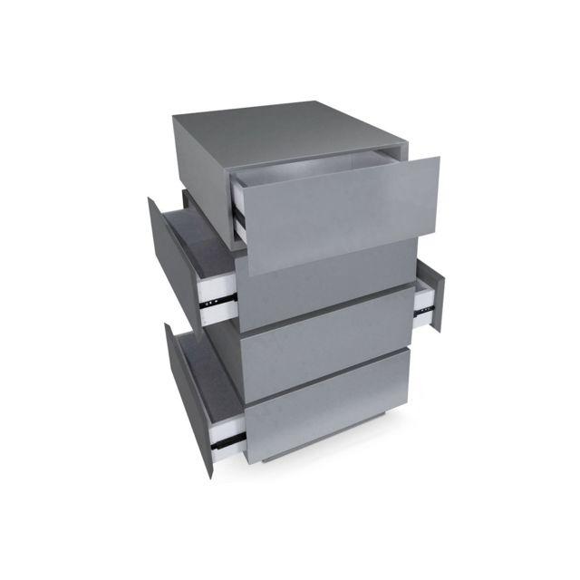 COTE COSY Commode rotative gris MILA