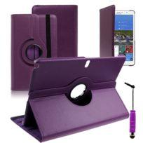 Vcomp - Housse avec support Et Rotation 360° en cuir Pu pour Samsung Galaxy Tab Pro 12.2 Sm-t9000/ Tab Pro 12.2 3G T900/ Tab Pro 12.2 Lte 4G Sm-t905 + mini stylet - Violet