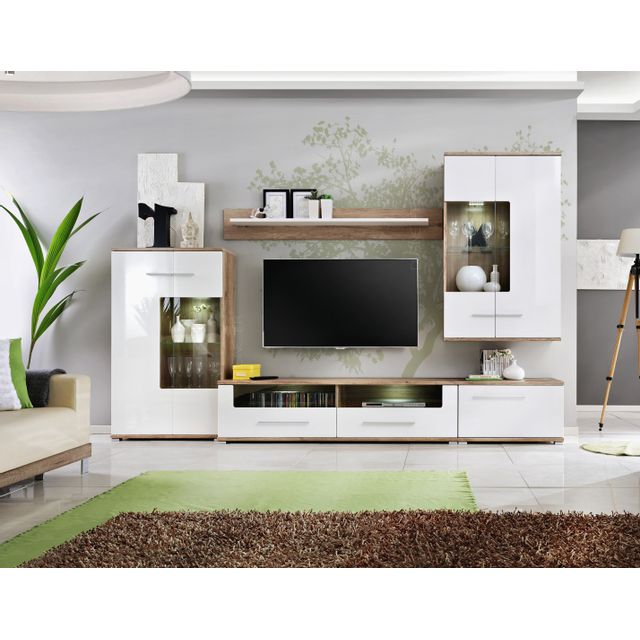 ensemble meuble tv laqu. Black Bedroom Furniture Sets. Home Design Ideas