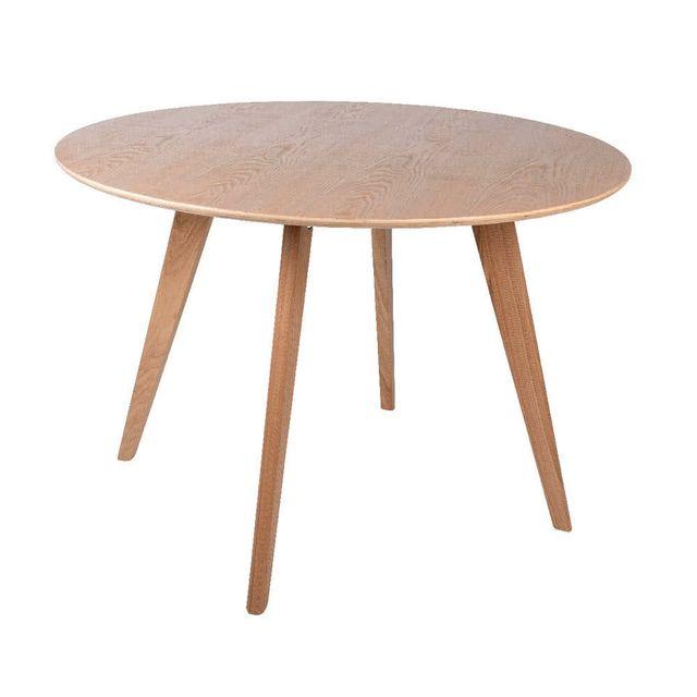 Kaligrafik Table à manger ronde en frène massif diamètre 110 cm Halden