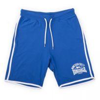 Lonsdale - Short en coton bleu et blanc homme