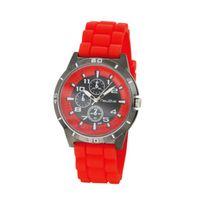Newave - Nwh215R - Montre Mixte Quartz Analogique Cadran Gris Bracelet Silicone Rouge