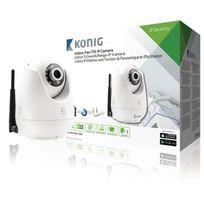 König - Caméra de surveillance Ip Pan-Tilt Intérieur Vga Blanc