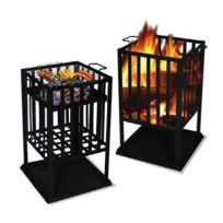 Lekingstore - Brasero et Barbecue carré 2 en 1