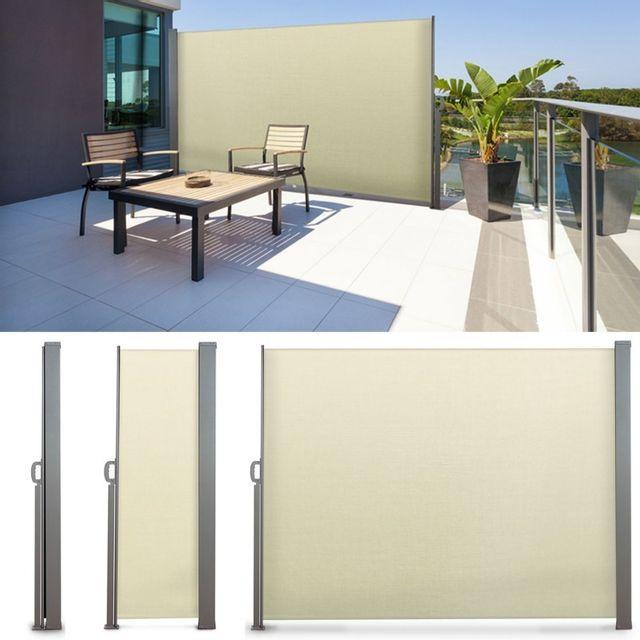 idmarket paravent ext rieur r tractable 300x200cm cru store vertical pas cher achat vente. Black Bedroom Furniture Sets. Home Design Ideas