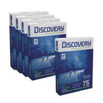 Discovery - Ramette papier A4 75 gr - lot 4 ramettes 500 feuilles + 1 gratuite - blanc